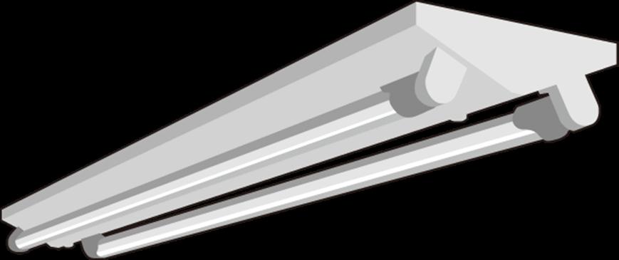蛍光灯逆富士型2灯用をLED化した例