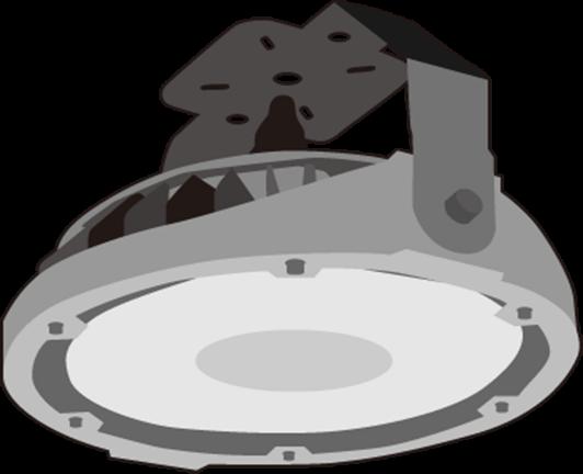 水銀灯をLED化した例