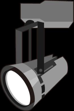 HIDランプやハロゲンランプのスポットライトをLED化した例
